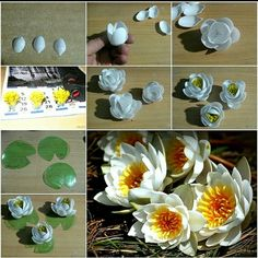 Art and craft ideas for home decor step by step diy lily from plastic spoons and bottles earth day crafts with recycled materials weareteachers plastic Plastic Spoon Crafts, Plastic Spoons, Plastic Bags, Diy Flowers, Flower Crafts, Paper Flowers, Plastic Bottle Flowers, Recycle Plastic Bottles, Recycled Art Projects