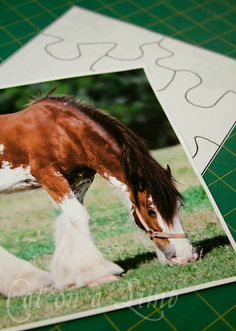 Try this idea: glue (Mod Podge) a photo/picture to the back of a puzzle, one piece at a time and cut out. You'll end up with a double sided puzzle. Or glue pic to front of old puzzle and cut apart for a new one-sided puzzle.)