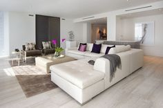 Gorgeous white leather couch.