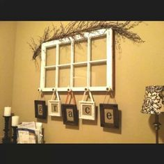 Use An Old Window Drawer Pulls Frames Ribbon And Burlap