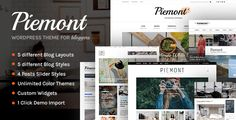 ThemeForest Piemont v1.2.4 – Premium Responsive WordPress Blog Theme