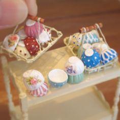 2017, Miniature Bowls♡ ♡ By pansbear