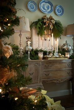 decorating with natural greenery...
