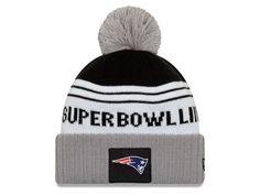 7da7b018342c34 Cozy up with a New England Patriots New Era NFL Super Bowl LIII Participant Pom  Knit
