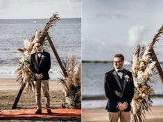 The autumnal toned florals were perfect in the late afternoon light & Lesa & Josh's beachside ceremony was idyllic. Lola Hair, Grace Love, All Pictures, Plymouth, Wedding Season, Groomsmen, Victoria, The Incredibles, Seasons
