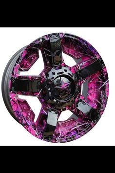 One of my dream cars is a black & hot pink jeep wrangler ... if I ever get that jeep, these will be my wheels. <3<3