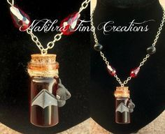 Bottled Blood With Bat Polymer Clay by Nakihra on deviantART