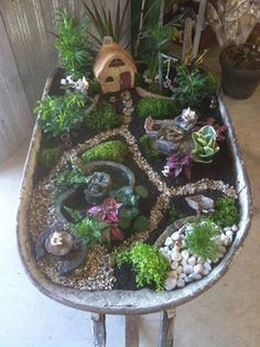 FAV fairy garden--but on ground
