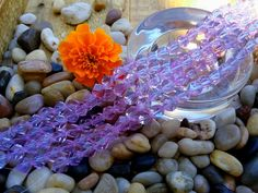 Twist Cut Crystal Rounds, 8mm, Tiaria Designer Crystal, Periwinkle, $3.99 by DragonflyBeadsStudio on Etsy