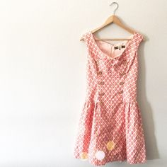 Eva Franco Drop Waist Patterned Button Dress Eva Franco for Anthropologie! SO adorable and perfect for spring + summer! Extremely high quality and in excellent pre worn condition! No trades!! 02201650gwpg Eva Franco Dresses Mini