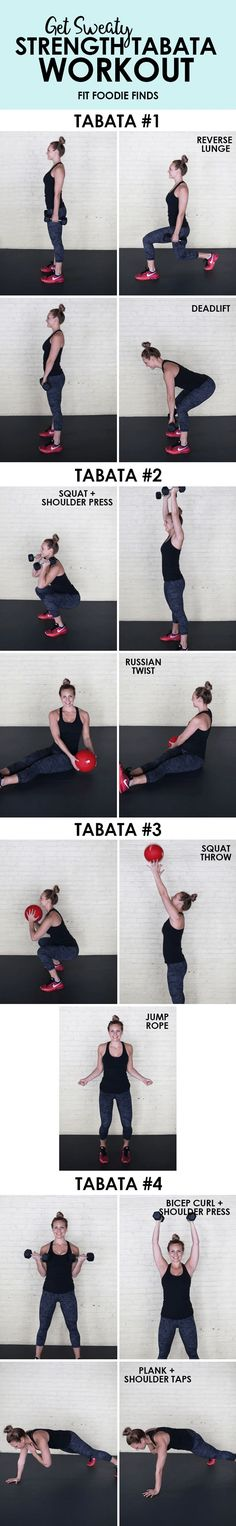 Get sweaty with this full-body strength tabata workout by mixing strength exercises with plyometrics!