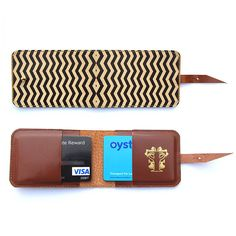 Chevron Leather Card Case from tovicorrie via notonthehighstreet.com