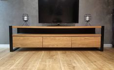 Oak veneer TV Stand with blum drawers - TV Stand made of oak veneer on steel legs with blum drawers. Made to order. Welded Furniture, Plywood Furniture, Home Decor Furniture, Rustic Furniture, Barbie Furniture, Furniture Legs, Garden Furniture, Diy Furniture Cheap, Diy Furniture Renovation