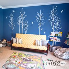 Wall decal - easy to stick :)  https://www.etsy.com/listing/189256145/large-blossom-tree-vinyl-wall-decal-with?ref=shop_home_active_2&ga_search_query=NT025