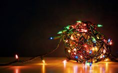 a simple ball of Christmas lights but they look so pretty in this photo (Christmas4U) Source: sydneyscampmann - http://sydneyscampmann.tumblr.com/post/59047426232