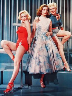 Marilyn Monroe, Lauren Bacall and Betty Grable in How To Marry a Millionaire (1953)