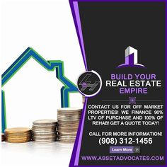 Call Today to Buy Off Market Properties. (973) 200-0223 Visit http://ift.tt/1Yam6MX and learn how to become a Real Estate Investor.  FREE Investors Seminar Coming Soon!  #RealEstate #Realtor #mortgagelender #hardmoneyloans #hardmoney #loanoriginators #mortgages #loanofficers #commercialrealestate #investing #mortgage #helpwanted #Housing #Listing #interestrates #buy #money #invest #hiring #hectorjalvarez  #JustListed #LeidyZuluaga #mortgage #refinance #realestateinvesting #Faith #Love…