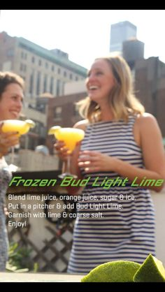 Frozen Bud Light Lime!