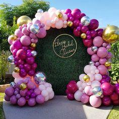 deep pink balloons wedding backdrop 14 #wedding #weddings #weddingideas #dpf