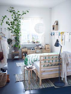 Small space bedroom comfort.
