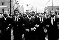 Martin Luther King Marching for Voting Rights with John Lewis, Reverend Jesse Douglas, James Forman and Ralph Abernathy, Selma by Steve Schapiro  #photography