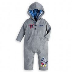 Mickey Mouse Hooded Coverall for Baby