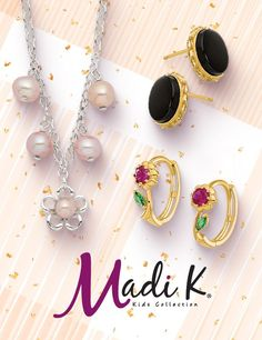 Girls of all ages will love the Madi K® collection of whimsical themed earrings and pendants. #QualityGold #KidsFashion #MadiK #ThemedEarrings #KidsJewelry
