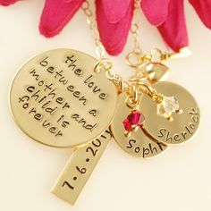 Love Between a Mother and Child with Tag  Hand Stamped by AnnieReh, $125.00