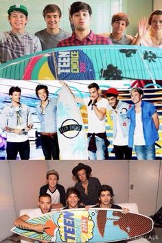 One Direction from the 2012-2014 Teen Choice Awards! Look how much they have grown!