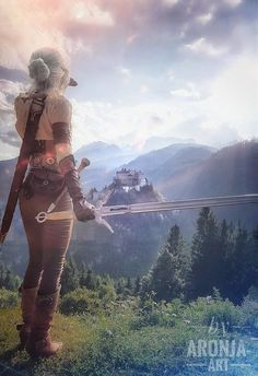 by AronjaArt Ciri, the Witcher 3 High Fantasy, Fantasy World, Final Fantasy, The Witcher Game, The Witcher Wild Hunt, The Witcher Geralt, Witcher Art, Character Inspiration, Character Art