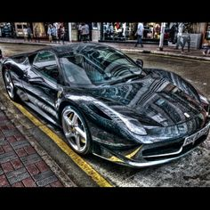 Dazzling Ferrari photography captured after some rain in Hong Kong