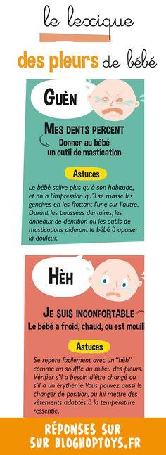 Infographie : Pourquoi bébé pleure ? Tant d'interrogations passant par la tête des parents devant leur tout petit qui s'agite… Mais, pourquoi bébé pleure ?  Lisez la suite pour apprendre à déchiffrer les pleurs de bébé, ainsi que pour des conseils utiles afin d'apaiser ces larmes.