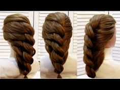 Прическа с плетением из жгута на основе гофре. Braided hairstyle - YouTube