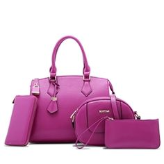 Ericdress Stylish Simple Pure Color PU Handbags (4 Bags)