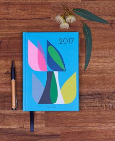 Inaluxe 2017 Diary. A collaboration with Earth Greetings. Made in Australia from 100% post-consumer recycled paper.