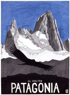 Torres del Paine-Patagonia Travel Print by Dave Christian,  A Traveler's Tale