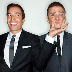 These two are awesome so funny when they get together Jimmy Fallon & Justin Timberlake GQ Men of the Year <3 I love them!