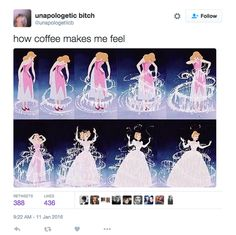 Noticeable mood shifts before and after coffee.