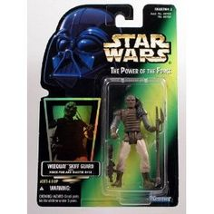 Star Wars The Power of the Force Green Card Weequay Skiff Guard Action Figure 375 Inches *** See this great product.