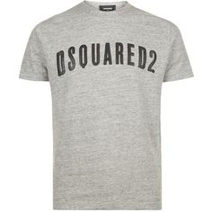 Dsquared2 Textured Logo T-Shirt (£175) ❤ liked on Polyvore featuring men's fashion, men's clothing, men's shirts, men's t-shirts, mens patterned shirts, mens graphic t shirts, mens print shirts, mens patterned t shirts and mens leopard print t shirt