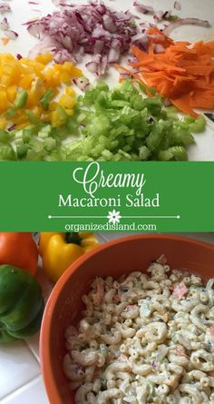 This Creamy Macaroni Salad is quick to make and is a favorite at picnics, barbeques and parties!