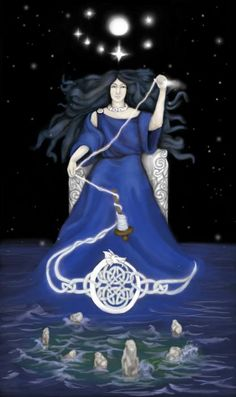 """Arianrhod's themes are the arts, magic, manifestation and rebirth. Her symbol is a silver wheel (spinning tools i.e. shuttle, yarn). In Welsh tradition, this is the Goddess of the &#8…"