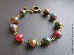 """Браслет """"Венеция"""". - яркий аксессуар,яркое украшение,браслет,браслет из камней"""