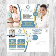 Design a creative EDDM postcard for a dental office by copilul