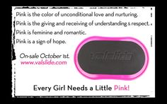 I am so excited for you all to try the new Pink Valslide!!    #PinkValslides #Fitfluential