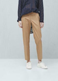 Dekoratif tokalı pantolon - Kaban - Kadın | MANGO