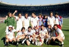 The victorious West Ham 1979/80 FA Cup Final team