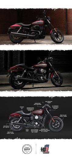 Beneath the Dark Custom motorcycle lurks a liquid-cooled 750cc Revolution X™ V-Twin engine. | 2017 Harley-Davidson Street 750
