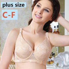 f55b81c89bf74 Feeding For Pregnant Women 100% Cotton Maternity Underwear Nursing Bra Plus  Size C D E F Large Cup Underwire Push Up Breast New