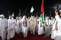 H.H. Sheikh Saud bin Saqr Al Qasimi, Supreme Council Member and Ruler of Ras al-Khaimah attends 46th National Day celebrations.